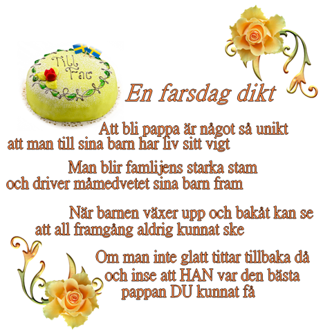 grattis på fars dag dikt Zvammel | Zarysz´s svammel | Sida 29 grattis på fars dag dikt